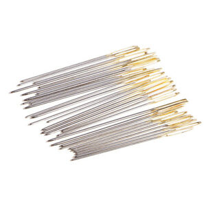 60Pcs Hand sewing needles Easy Threading Embroidery Cross Stitching Button $6.56