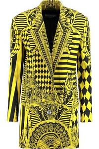 Balmain Runway Yellow Print blazer Jacket Dress FR38 rrp2250GBP New