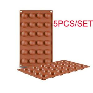 5pcs Mini Half Ball Silicone Cookies Baking Molds Chocolate Mould ICE Mold Tray