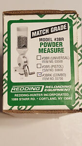 03700 REDDING 3BRK MATCH-GRADE POWDER MEASURE - FREE SHIPPING - NEW!