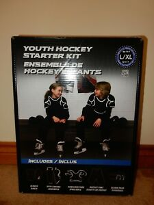 YOUTH HOCKEY STARTER KIT WITH GLOVES PANT SHOULDER & ELBOW PADS SHIN GUARDS