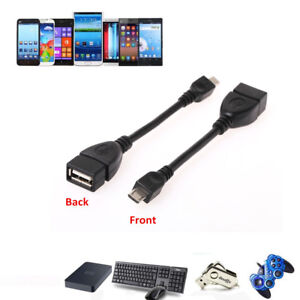 Mini Micro USB Host OTG Cable  Female to Male Date Adapter Cord For Android