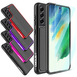 For Samsung Galaxy J7 StarCrownRefineV 2018 Phone Case+Glass Screen Protector