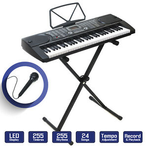 Digital Piano Keyboard 61 Key Portable Electronic Instrument with Stand $64.99