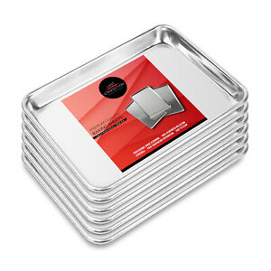 6 Professional Cookie Baking Sheets Aluminum Jelly Roll Trays Assorted Sizes $44.95