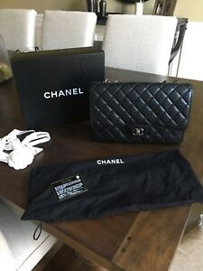 Chanel Jumbo Classic Single Flap Caviar With Silver Hardware