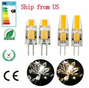 10X G4 5W 6W AC DC 12V LED COB Mini Crystal Bulb Light Replace Halogen Lamp
