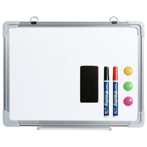 Small Magnetic Dry Erase Board Writing Whiteboard Set for Home Office Kid,12×16