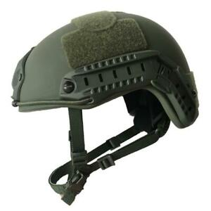 NIJ IIIA FAST Bulletproof Helmet with Attachment Rails - US Tactical