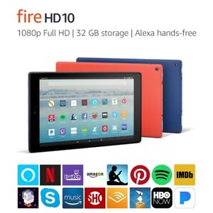 New Amazon Fire HD 10 Tablet wAlexa Hands-Free 10.1