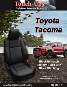 2016-2019 Toyota Tacoma DOUBLE Cab KATZKIN Black Leather Seat Covers Replacement