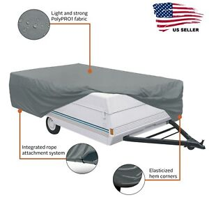 Folding Camping Trailer Cover PolyPro1 8 to 10 ft RV Pop Up Camper Protection