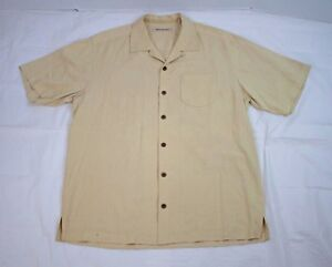Tommy Bahama Silk Shirt Size Medium Embroidered Legendary Lures Top Water Teaser