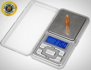 750 Grain Capacity Digital Reloading Scale With Built in Cover And Storage Case