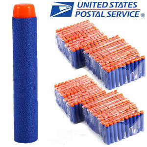 10-1000pcs For Nerf Refill Kids Toy Gun Refill Bullet Darts Round Head Blasters