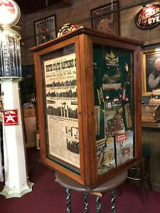1900's Hunting Fishing Rifle Bullet Corner Retail Display Cabinet
