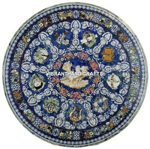 Semi Precious Marble Fancy Center Dining Table Inlay Design Beautiful Arts H3882