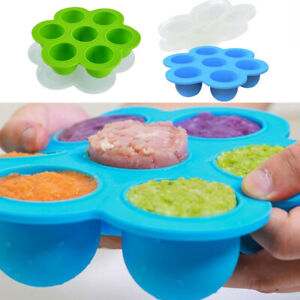 Cake Mold 7-Grids Egg Soap Flexible Silicone Round Mould For Candy Chocolate