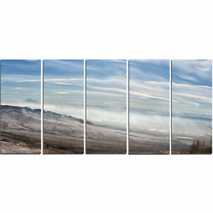 Design Art Winter Mountains in Caucasus 5 Piece Wall Art on Wrapped Canvas Set