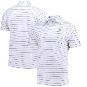 TPC River's Bend Under Armour Performance Stripe 2.0 Polo - White