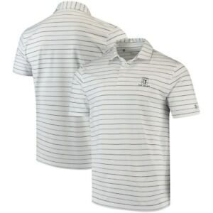 TPC River Highlands Under Armour Performance Stripe 2.0 Polo - White