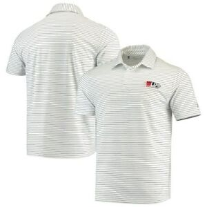 Under Armour World Long Drive Playoff Stripe Performance Polo - White