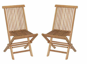 Bamboo54 Teak Side Chair Set of 2