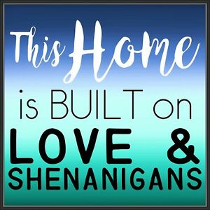 Ebern Designs 'This Home is Built on Love' Framed Textual Art on Canvas