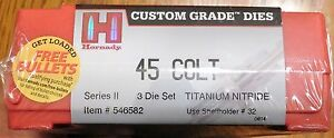 Hornady Custom Grade New Dimension Nitride 45 Colt 3-Die Set *Free Bullets*