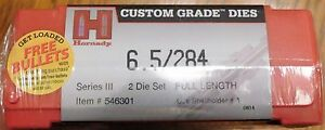 HORNADY SERIES III TWO-DIE RIFLE •6.52.84 •Full length *Free Bullets*