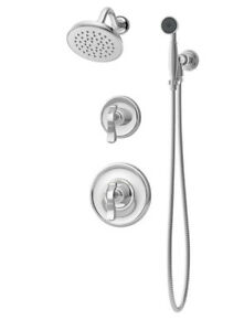 Symmons Winslet Pressure Balance Shower and Hand Shower with Lever Handle