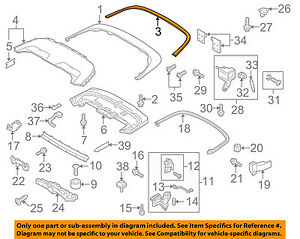 AUDI OEM 13-15 RS5 Storage Cover-Convertiblesoft Top-Rear Molding 8F0853297G1L1