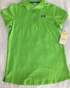 UNDER ARMOUR Heat Gear Golf Polo Shirt NWT Size: YXL