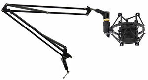 Rockville DMS40 Microphone Boom Arm Studio Podcast Mic StandClampShockmount $34.95