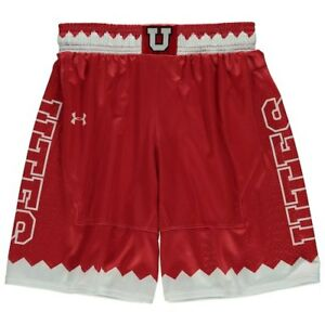 Utah Utes Under Armour Youth Replica Basketball Shorts - Red
