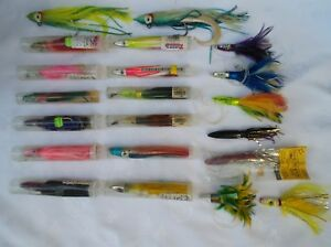21 BIG GAME OFFSHORE SALTWATER TROLLING LURES TUNA-MAHI-YELLOW TAIL