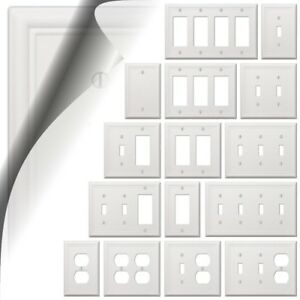 White Chelsea Wallplate Decorator Light Switch Plate Cover Toggle Rocker Outlet