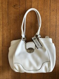 Treviso Designer White Handbag -New With Tags!