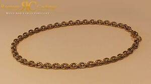 Unisex 30 inch Oval Link Chain Cast 9ct Gold Fully hallmarked 8 x 7 mm 106g