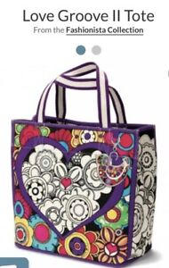 Brighton  Love Groove II Tom Clancy Design Canvas Tote Bag Retail $100 NWT