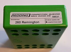 58531 REDDING TYPE-S COMPETITION BUSHING NECK DIE SET- 260 REMINGTON - NEW