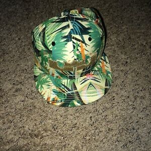 Nike True Lebron  Snapback Hat Tropical Palm Championship Gold Crown Hawaiian LA