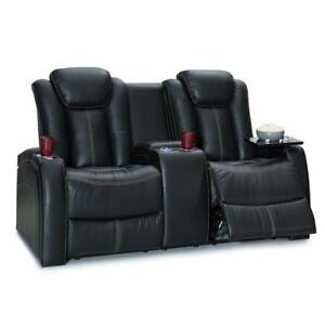 Seatcraft Republic Home Theater Seating Leather Sofa Loveseat with Power...