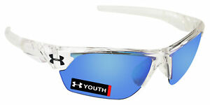 Under Armour 8600096-141461 youth windup crystal clear frosted frame blue lens