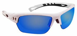 Under Armour 8600094-100961 octane shiny white charcoal frame gray blue lens
