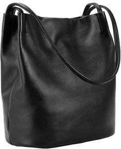 Iswee Leather Shoulder Bag Bucket Hobo Lady Handbag and Purse Fashion Tote...