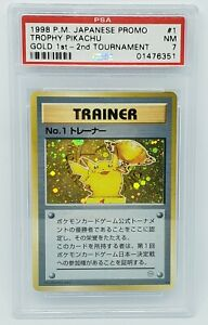 1998 No. 1 Trainer 1st Place Pikachu Trophy Card