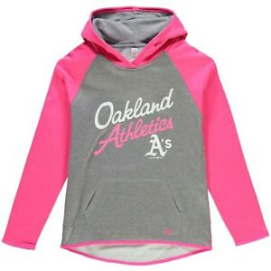 Oakland Athletics Under Armour Girls Color Blocked Performance Hoodie -