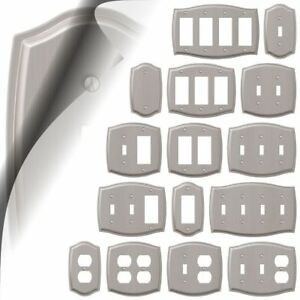 Sonoma Brushed Nickel Switch Plate Outlet Cover Toggle Rocker Duplex Wallplate