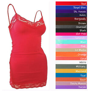 lt;Bozzologt; Lace Tank Top Adjustable Spaghetti Strap Cami V neck Layering Tank Top